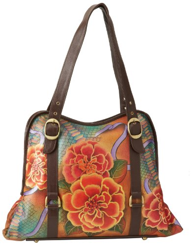 Anuschka 502 Tote,Python Bloom,One Size by ANUSCHKA
