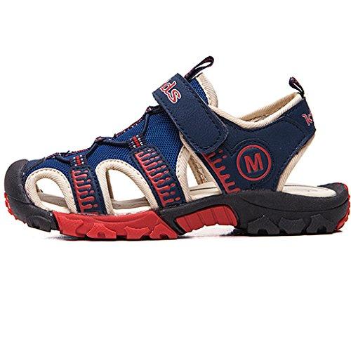 Eagsouni® Kinder Geschlossene Sandalen Outdoor Sport Trekkingsandalen Klettschuhe für Jungen Mädchen #1Dunkelblau