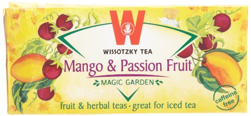 Wissotzky Mango and Passion Fruit, 1.55-Ounce Boxes (Pack of 6)
