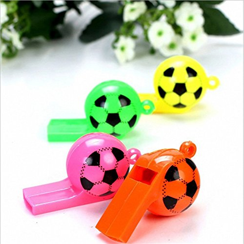Ball Whistle Color Plastic Football Whistle Party Favors Soccer Whistles ()
