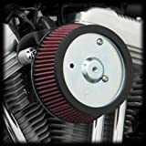 Arlen Ness 18-505 Big Sucker Stage 1 Air Cleaner Kit with Plain Backing Plate for 1999-Newer Harley Twin Cams