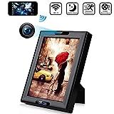 Wireless Hidden Spy Camera Photo Frame with Clock HD 1080P WiFi IP Nanny