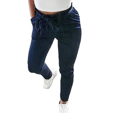 Damen Bleistifthosen - Gemütlich Elastischer Taille Hosen mit Bund und  Taschen Mode Einfarbig Mittlere Taille Beiläufige 4c7a56d603