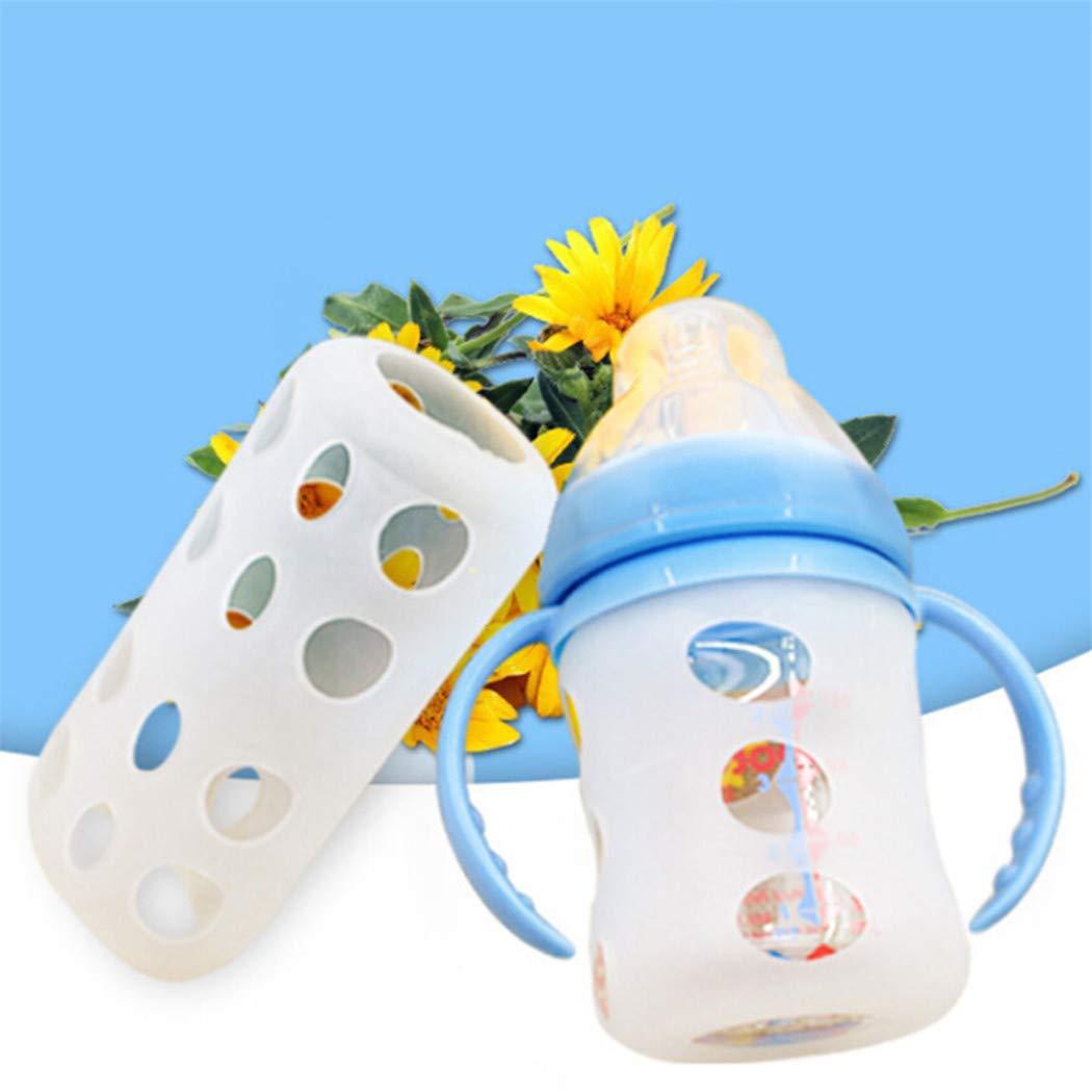 Eleusine Glas Baby Babyflasche Abdeckung Flasche Silikonh/ülle Isolierend Sch/ützen