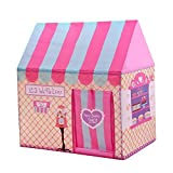 Princess Castle Play Tent Little Girl Kids Tent Pink Absolutely Love Paly House,conveniently Folds...
