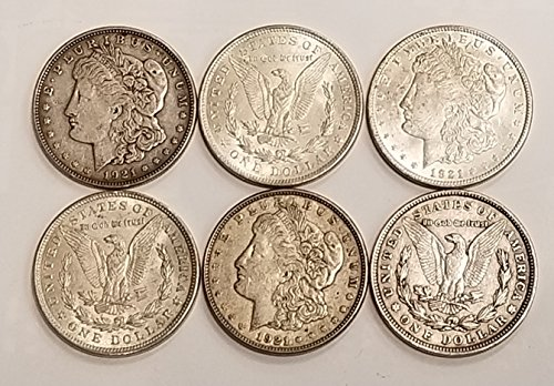1921 Various Mint Marks Morgan Silver Dollar (Single Coin) $1 VF-AU