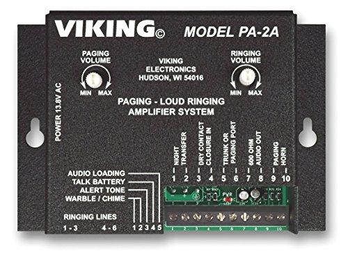 [해외]사무실 전화와 함께 사용하기 위해 앰프 및 스피커 혼이 장착 된 바이킹 페이징 시스템/Viking Paging System with Amplifier and Speaker Horn Fully Powered for Use with Office Phones