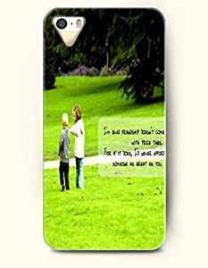 iPhone 5 5S Case OOFIT Phone Hard Case ** NEW ** Case with Design I'M Glad Friendship Doesn'T Come With Prive Tags. For If It Does,I'D Never Afford Someone As Great As You- Proverbs Of Life - Case for Apple iPhone 5/5s