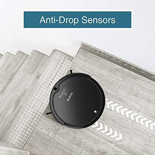 Hair Cleaner Self-Charging Robotic UV Filter for Pet Hair and and Tile-Gray