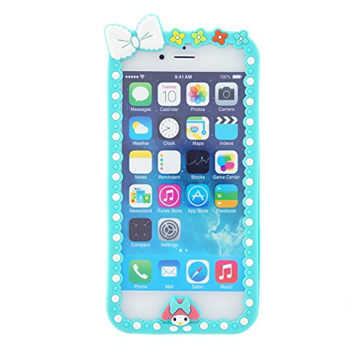 CaseBee ® - Stylish Bowtie iPhone 6 (4.7) Case - (Package includes Screen Protector) (Aquamarine)