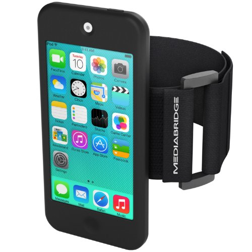 Mediabridge Armband for iPod Touch - 5th / 6th Generation ( Black ) - Model AB1 (Part# AB1-IPT5-BLACK ) (Gps Protective Skin)