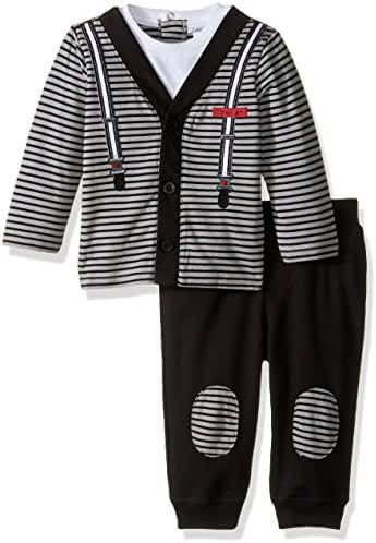 Calvin Klein Baby Boys' Cardigan with Patched Pants Set