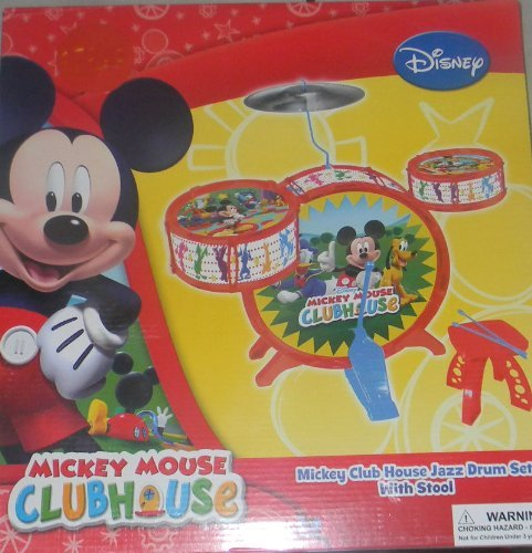 Disney Mickey Mouse Clubhouse Jazz Drum Set with Stool by Disney