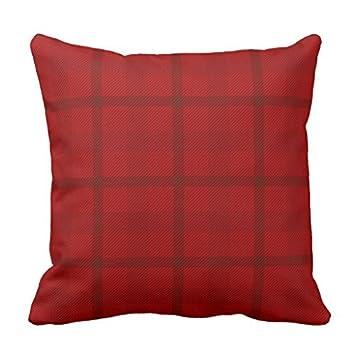 Amazon.com: Patrón de Cuadros sofá funda de almohada ...
