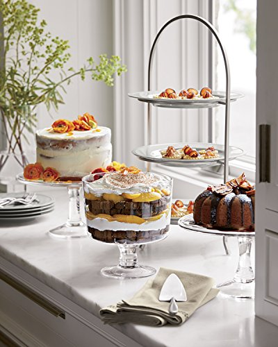 Attractive Trifle Bowl, Footed Glass Centerpiece, Trifle Cake Fruit Dessert Dish by Le'raze (Image #2)