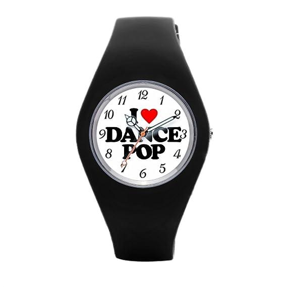 Para mujer deporte reloj I Love corazón de goma deporte relojes: Amazon.es: Relojes