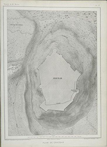 Map Vintage Plan (Historic pref. 1874 Map | Plan de Chaubak. | JordanAntique Vintage Map Reproduction)