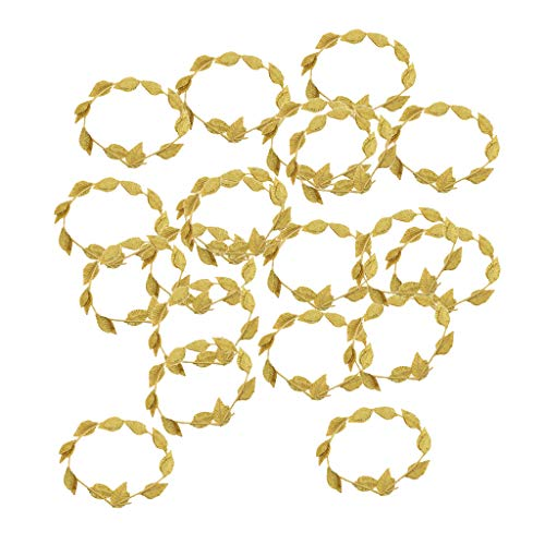 SM SunniMix Set of 20pcs Laurel Wreath, Roman Greek Goddess Gold Leaf Headband, Beach Wedding Hair Accessories Gift