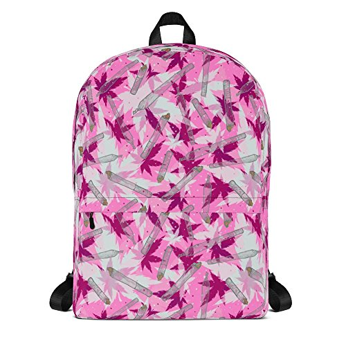 """Price comparison product image Handstitched """"Ganja (Marijuana) 420"""" Daypack, Small Casual Water-resistant Backpack for Men and Women with 15 Inch Laptop Pouch, Style 0013 - H16.77, W12.25, D3.886"""