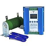 PIKASOLA 1400W Off Grid with Unloader Hybrid Wind Solar Controller 12V/24V Battery...