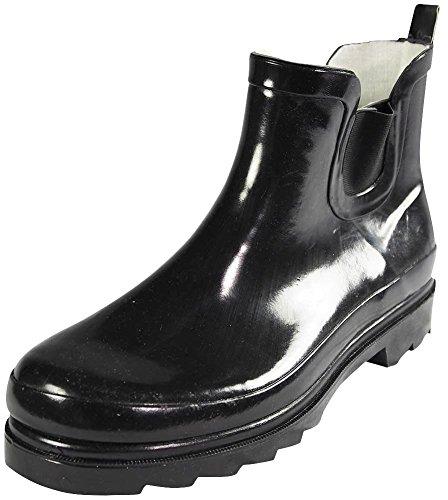 Boots Short Black Rain Brand Women's Ankle Rubber Sunville New 41t0qzw