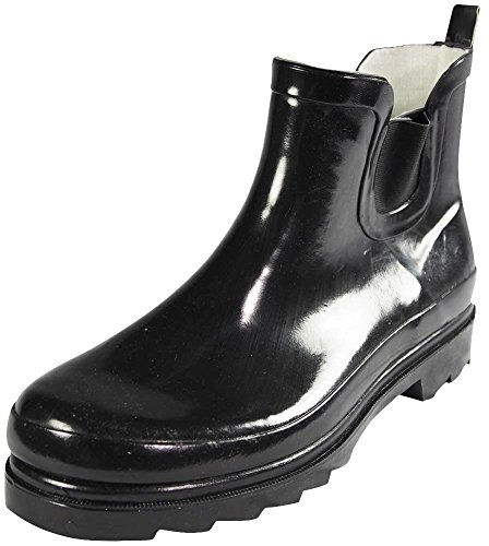 Sunville Womens Short Ankle Rubber Rain Boots Black O7SbiNXYzN