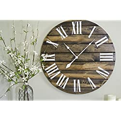 30 Large Wood Wall Clock