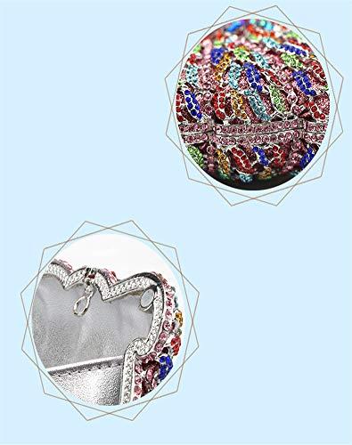 Jours Sac Présente de Incrusté Et pour Sacs Mini Bal Diamants Exquis D de Brille à de fériés Pochette F 18x11cm d'autres soirée 7x4inch Main soirée Parti PCAw5qwt
