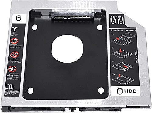 TULMAN Optical SATA 2nd Bay 2.5inch Hard Drive HDD SDD Caddy for 12.7 mm Universal CD/DVD-ROM