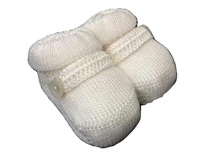 new product 234e1 931f4 Gallo babbucce neonato in maglia di puro cotone bianco con ...