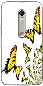 Snoogg Kaleidoscopic Butterflies Designer Protective Back Case Cover For Moto...