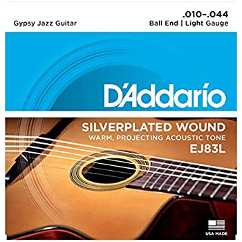 d 39 addario ej83l gypsy jazz acoustic guitar strings ball end light 10 44 musical