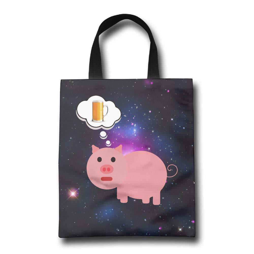 【送料無料(一部地域を除く)】 Lqzdqa Pig 再利用可能 Dreaming of Lqzdqa Beer ファッション Pig 再利用可能 ショッピングバッグ エコフレンドリー 耐久性 B07GSNSKHV, No Charge:84379754 --- arianechie.dominiotemporario.com