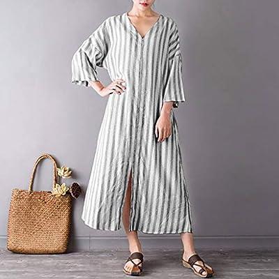 Women Summer Style Feminino V Neck Cotton Casual Plus Size Maxi Dress