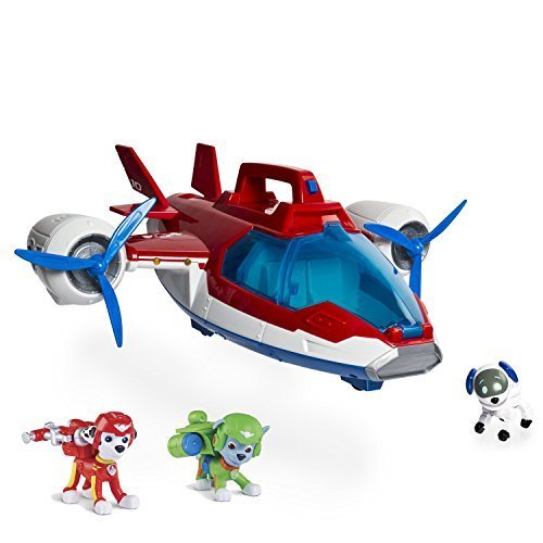 Maven Gifts: Paw Patrol, Lights and Sounds Air Patroller Plane - Paw Patrol, Air Rescue Marshall, Pup Pack & Badge - Paw Patrol, Air Rescue Rocky, Pup Pack & Badge