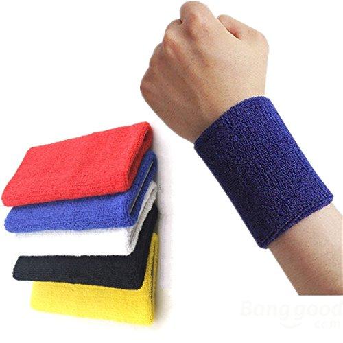 Woman - 10cm Fitness Wrist Sweatband Hand Wrap Wristband - Headband Running - Athletic - Visor Moisture Radiocarpal Joint Tennis Terry Competition Cloth - 1PCs