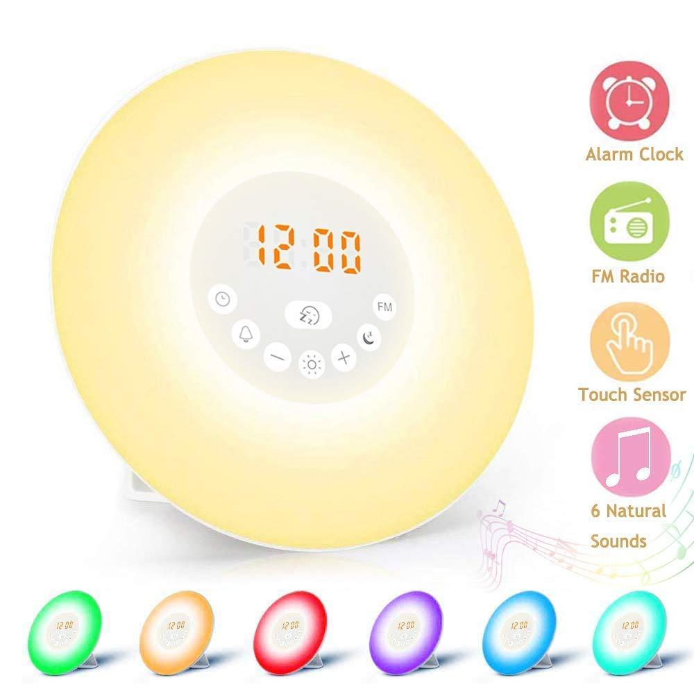 HUAQIMEI Despertador Reloj Despertador Digital con Salida ...