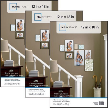 12x18 Picture Frame, Plastic, Wall Mount, Set of 3