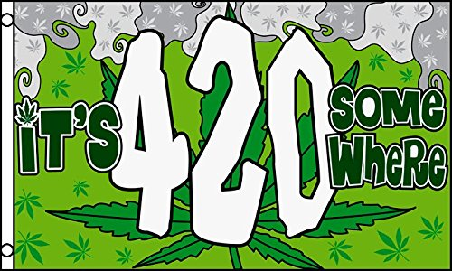 IT'S 4:20 SOMEWHERE FLAG 3' x 5' - IT'S FOUR FLAGS 90 x 150