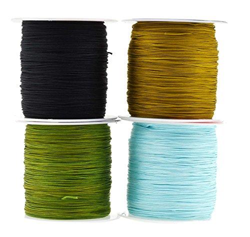 Mandala Crafts 0.5mm Satin Nylon Chinese Knot Rattail Macramé Beading