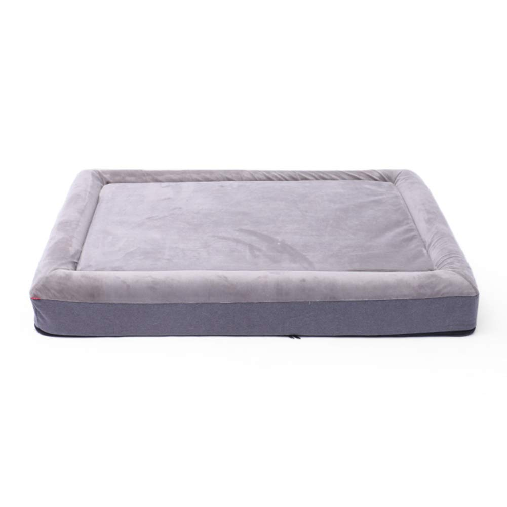 Pet Bed with Palm Latex,Waterproof Memory Foam Dog Beds,Dog Mat,with YKK Zipper,for Large Dog Keep Warm