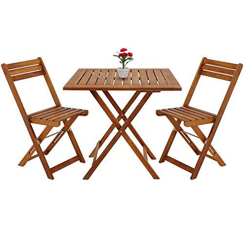 Amazonde Deuba Balkonset Akazien Holz 2x Klappstuhl 1 Tisch