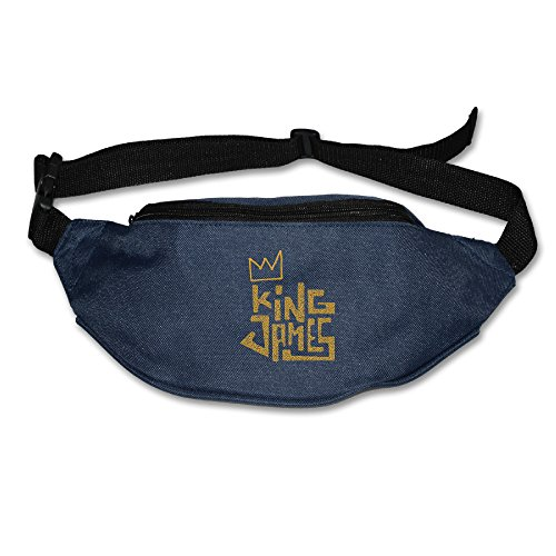 Price comparison product image King James Crown Logo Cleveland Champions Waist Bags For Men Women Navy (2 Colors)