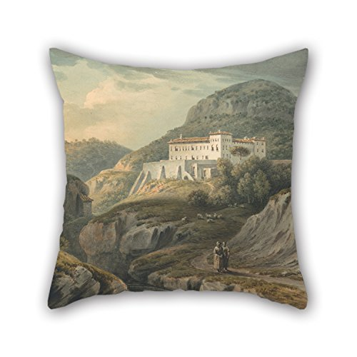 rwick Smith - Convent At Vietri, Near Salerno Pillow Covers 16 X 16 Inches / 40 By 40 Cm For Dining Room,adults,relatives,indoor,car,office With 2 Sides ()