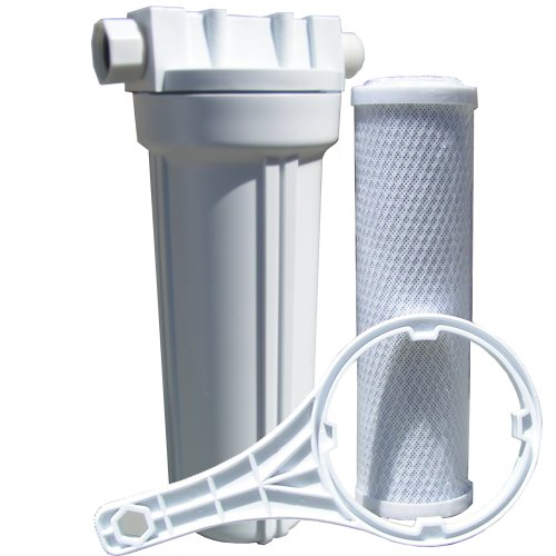 Watts 520021 RV/Boat Single Exterior Water Filter with Garden Hose Fittings by Watts Premier