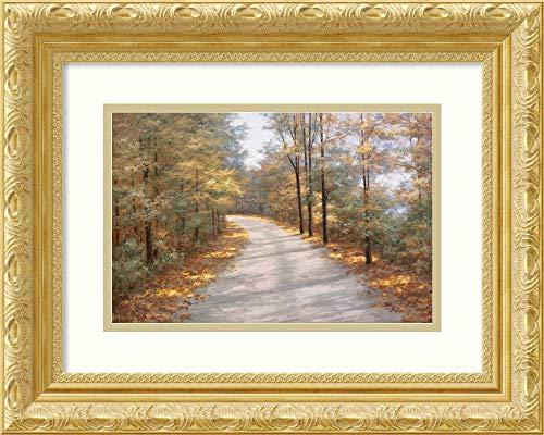 Amanti Art Walking in Fall by Diane Romanello Framed Art Print, P4358880