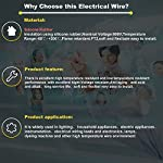 Silicone-Fili-elettrici-2x03mm-22AWG-2-Core-2x30metri-Cavo-Elettrico-filo-di-rame-stagnato-a-piu-fili-Alta-Temperatura-Resistente