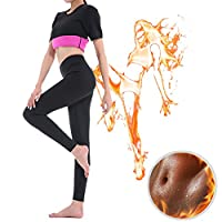 GoldFin Sweat Leggings Weight Loss Neoprene Pants Women High Waist Tummy Control Shapewear Physical Exercise BS007