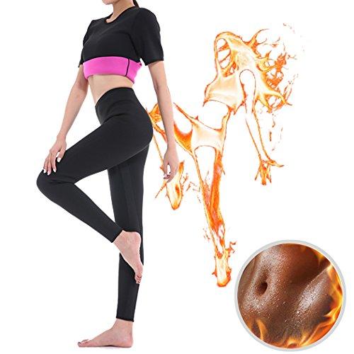 a128d4c9cd5 GoldFin Women Hot Sweat Leggings Neoprene Pants