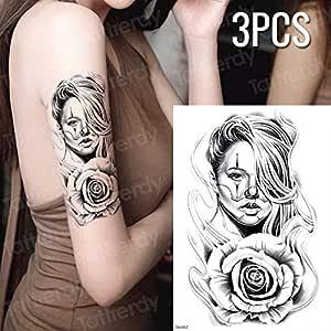 Handaxian 3pcsWaterproof Peace Tattoo Tattoo Water Transfer Tattoo ...